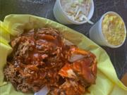 Pulled pork and sliced chicken with coleslaw and potato salad at Goldie's Texas Style BBQ.