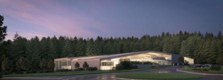 A rendering for how the proposed community center in Camas could look.