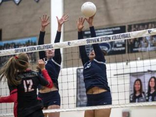 Skyview vs. Camas Volleyball