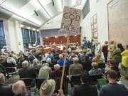 Both pro and con sign advocates back in 2015 would pack the joint over at the county building.