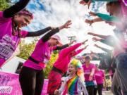 Participants young and old were celebrated at the Girlfriends Run for a Cure on Oct. 13 in Vancouver. In 13 years, the event has raised more than $600,000 for breast cancer research.