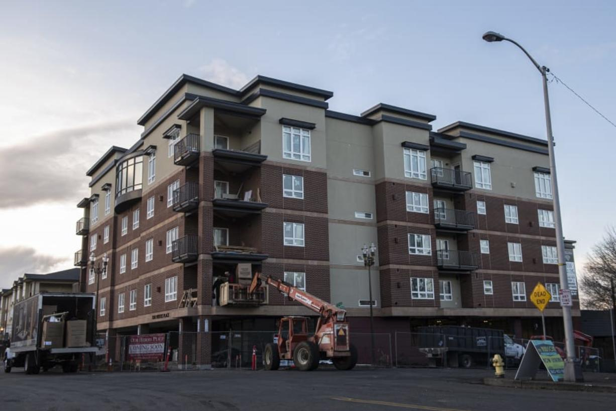 "Construction is wrapping up at Our Heroes Place apartments. The northern ""Ed"" building finished about three weeks ago, and the southern ""Dollie"" building is expected to be completed by the end of January."