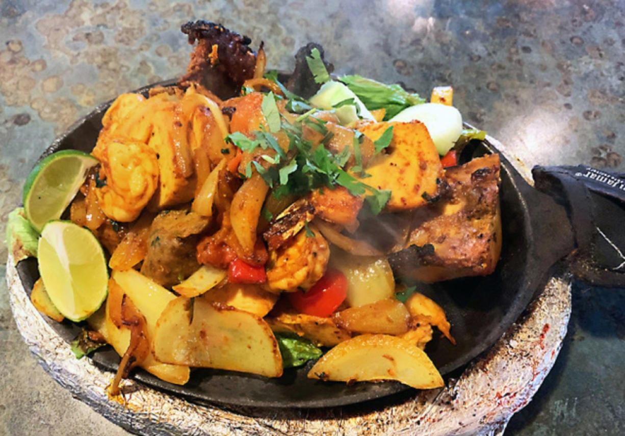 Mixed grill at Chutneys.