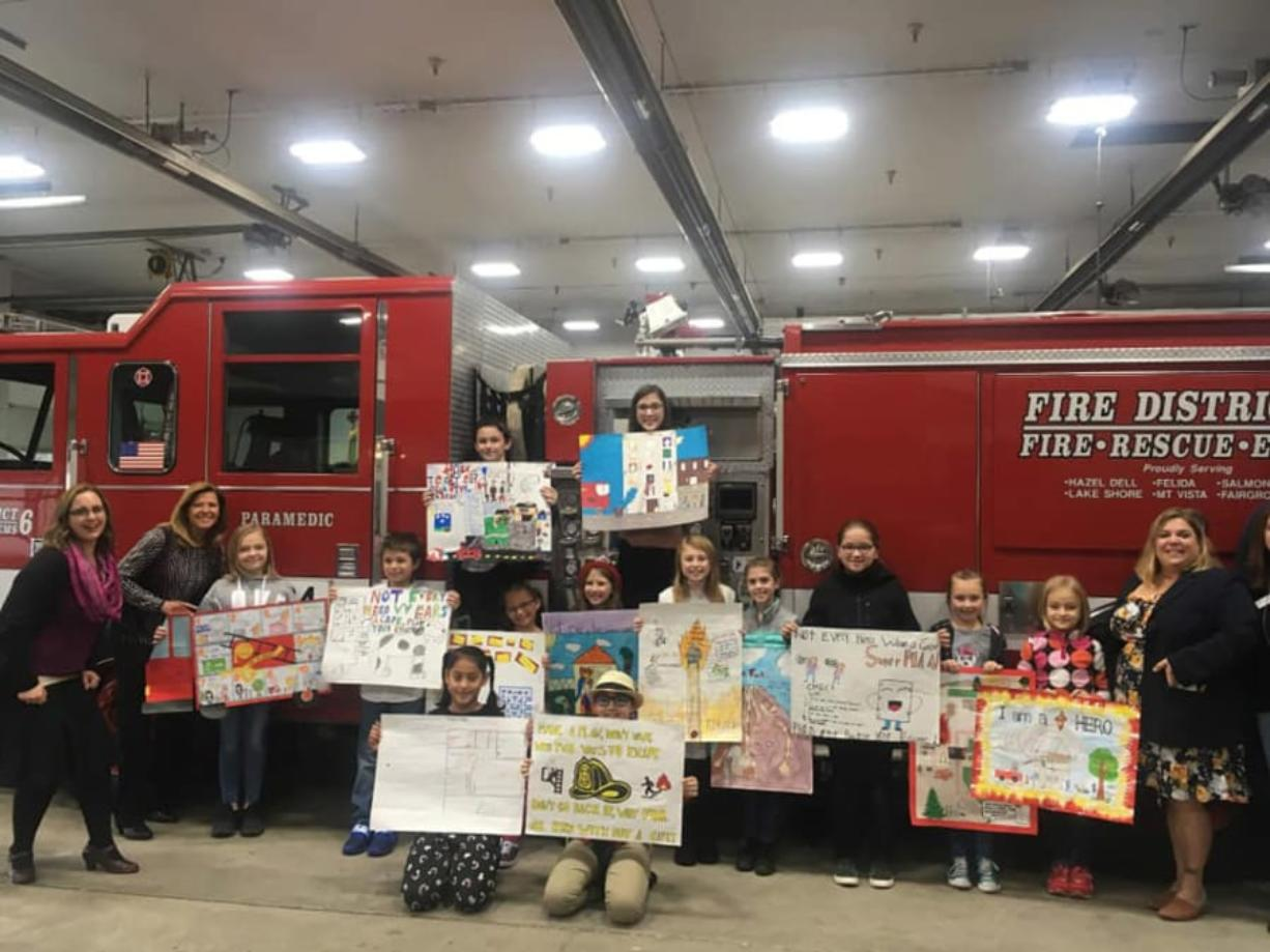 Hazel Dell: Fifteen Vancouver elementary school students participated in the Annual Safety Poster Contest, a National Fire Safety Program, hosted by the Hazel Dell Salmon Creek Business Association.