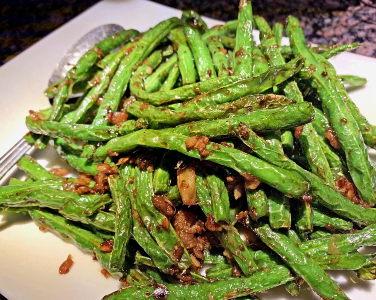 Sauteed string beans at Eastland Sushi & Asian Cuisine. (Rick Browne/ for The Columbian)