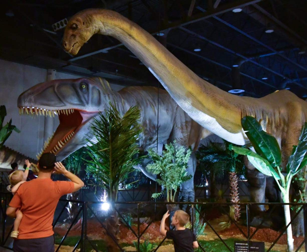 Jurassic Quest, at the Clark County Event Center at the Fairgrounds Nov. 15-17, is a realistic dinosaur event with dinosaur exhibits, a walking dinosaur show, dinosaur tours, dinosaur cinema, a science station, and dinosaur rides. (Clark County Event Center at the Fairgrounds)