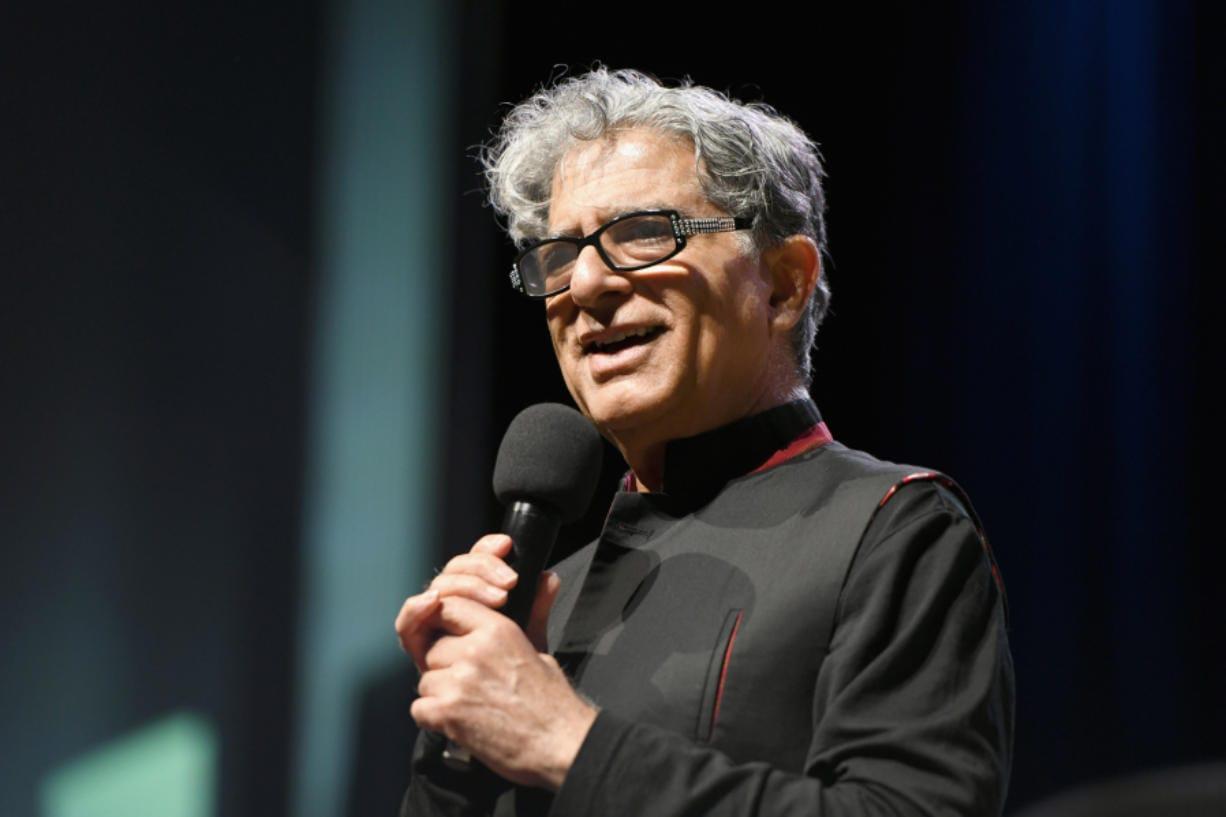 """Deepak Chopra speaks onstage at """"Something in the Water"""" on April 27 in Virginia Beach City, Va."""