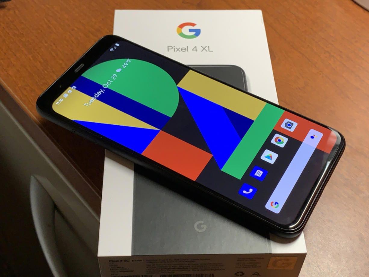 The Google Pixel 4 XL. (Jim Rossman/Dallas Morning News)