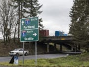 The I-5 and Northeast 179th Street interchange is seen here near a plot of land under consideration for development by the Clark County Council.