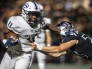 After a foot injury ended his junior season early, running back Jalynnee McGee is back and healthy, ready to lead Skyview into a playoff rematch with Woodinville.