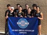 Members of Pacific Ice, the Junior Team Tennis entry from Club Green Meadows representing the USTA Pacific Northwest Section, pose in San Antonio at the national championships.