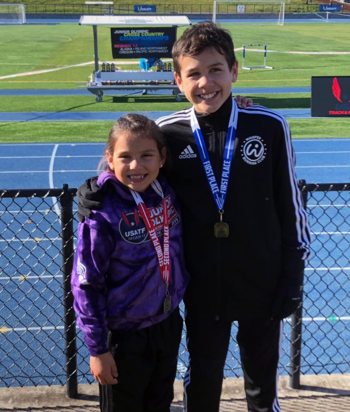 Sofia Soto, a Harney Elementary School student, and Sam Soto, a student at Gaiser Middle School, qualified for Junior Olympics cross country nationals on Saturday, Nov. 23, 2019, at Eugene, Ore. The compete for Whisper Running club.