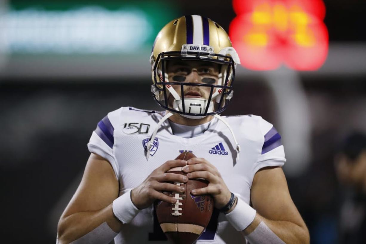 Washington quarterback Jacob Eason (David Zalubowski/Associated Press)