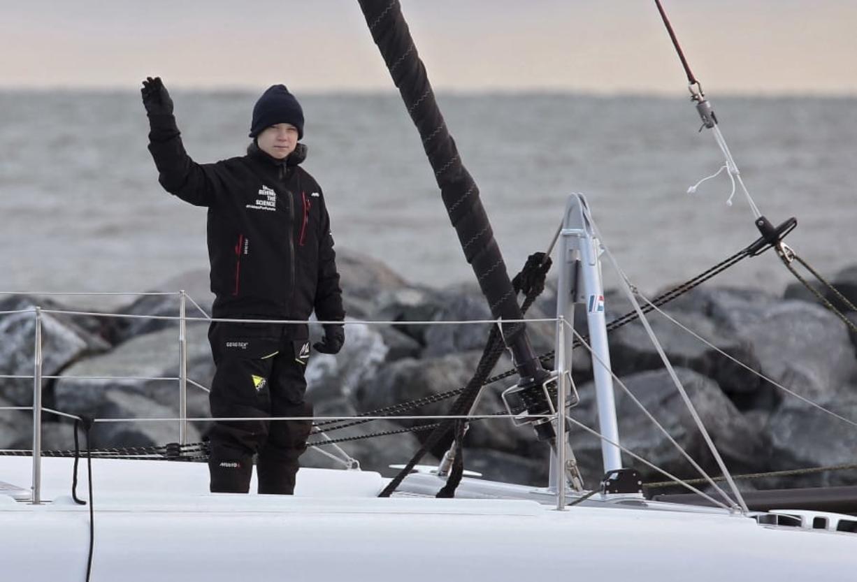 Greta Thunberg Hitches Low Carbon Ride Across Atlantic Columbian Com