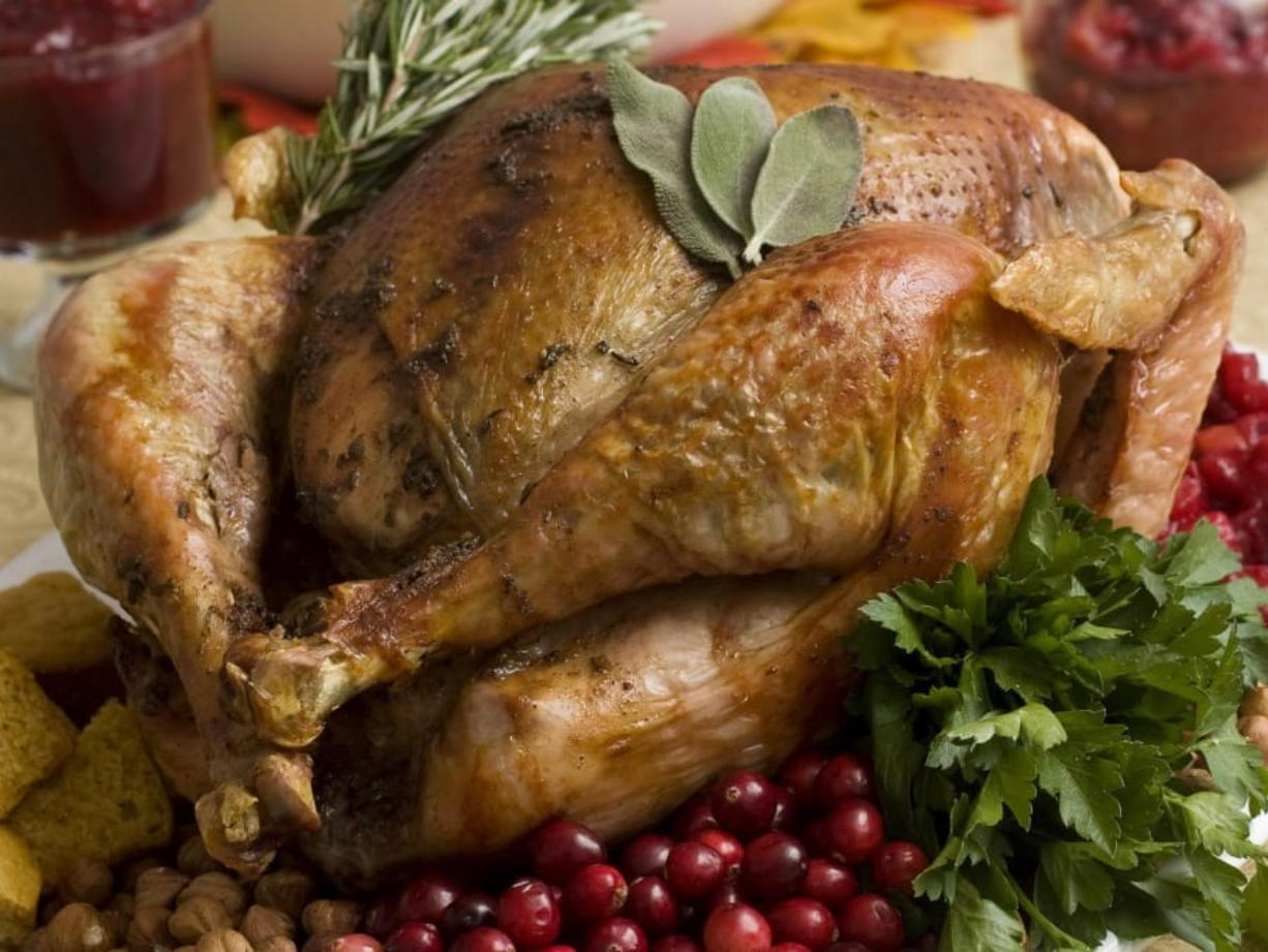 Food safety experts say raw turkeys shouldn't be rinsed, since that can spread harmful bacteria. Cooking should kill any germs. But bacteria can still spread in other ways, so washing and sanitizing hands and surfaces is still important.