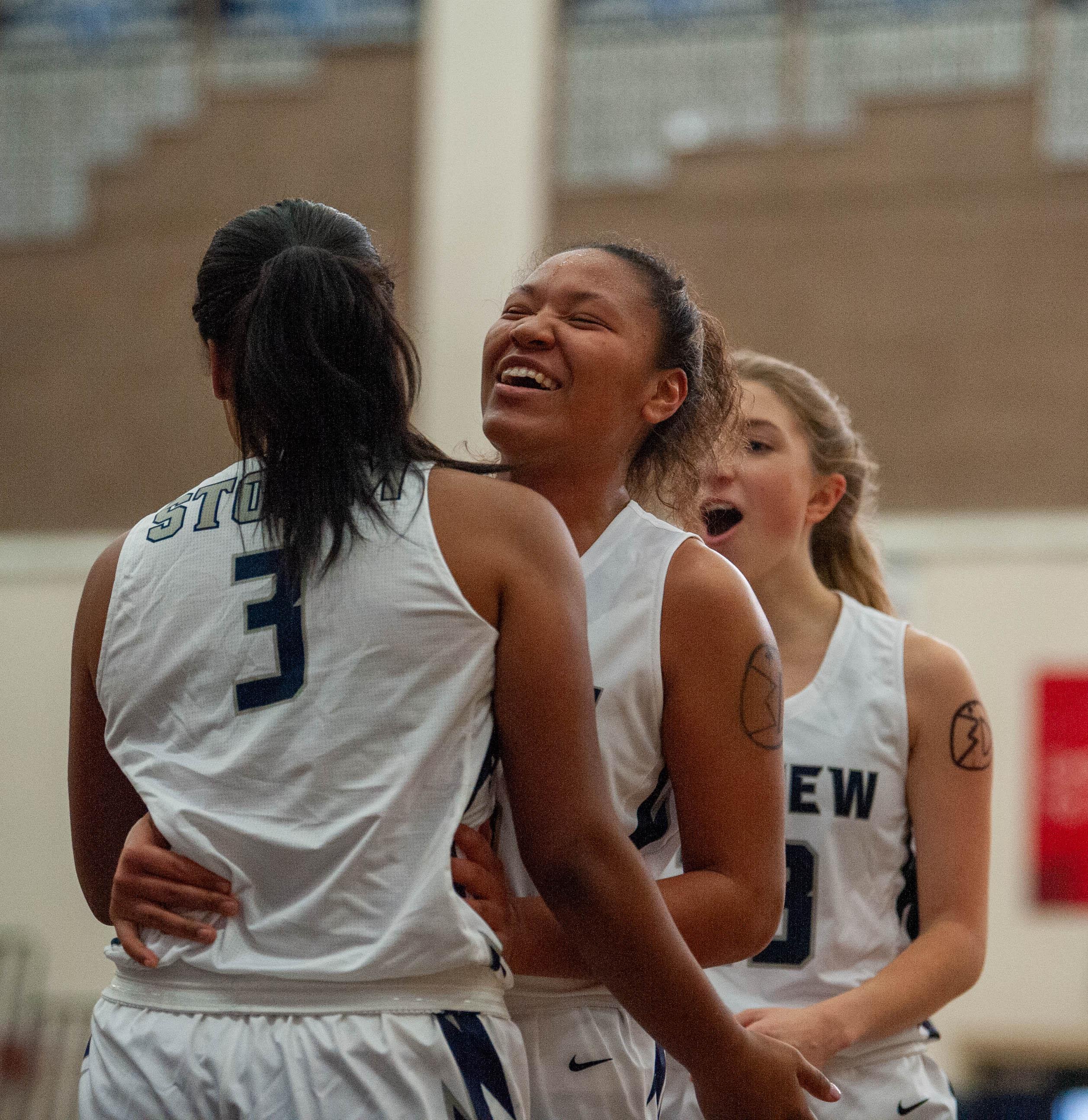 Images from a girls basketball jamboree Saturday morning at Skyview High School. (Joshua Hart/The Columbian)