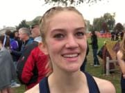 Skyview sophomore Samantha Williams improved from a 98th-place finish at the state meet as a freshman to fifth place on Saturday in Pasco.