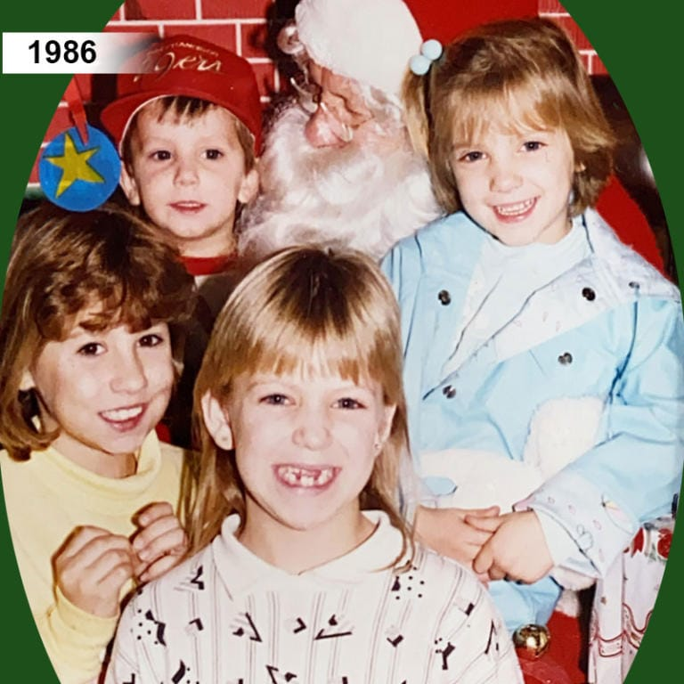 3 generations of the Strickland family have visited Santa at the Woodland Hi-School Pharmacy, 1986