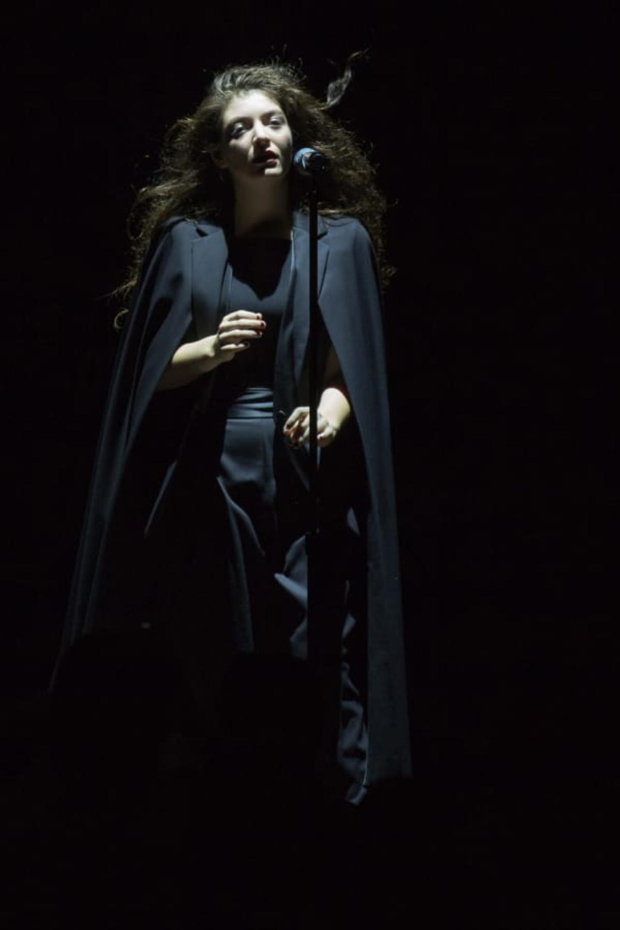 """Singer Lorde performs Sept. 5, 2014, at the Mann Center in Philadelphia. Her 2013 release """"Pure Heroine"""" was the best album of the decade."""