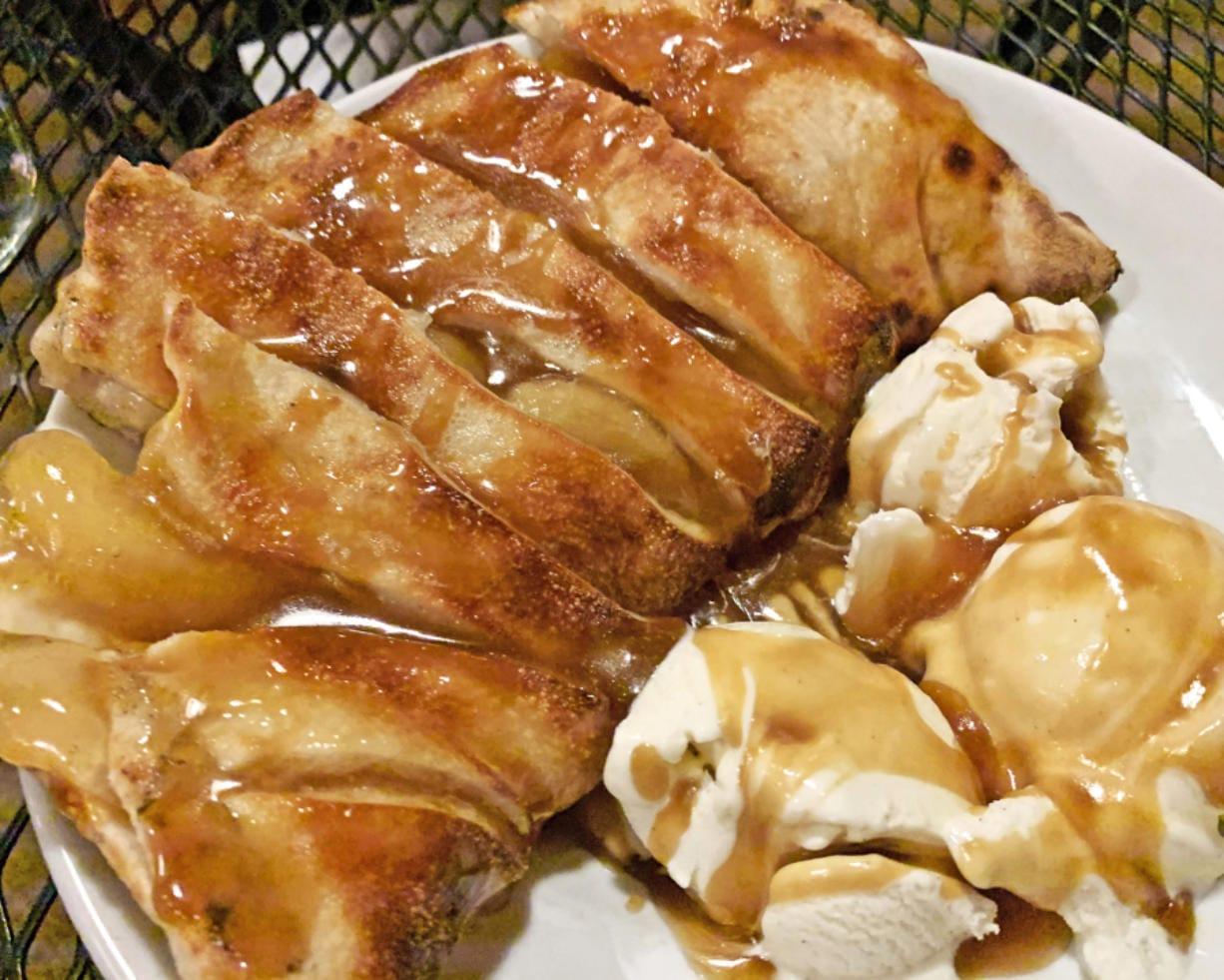Apple empanada at Rusty Grape Vineyard.