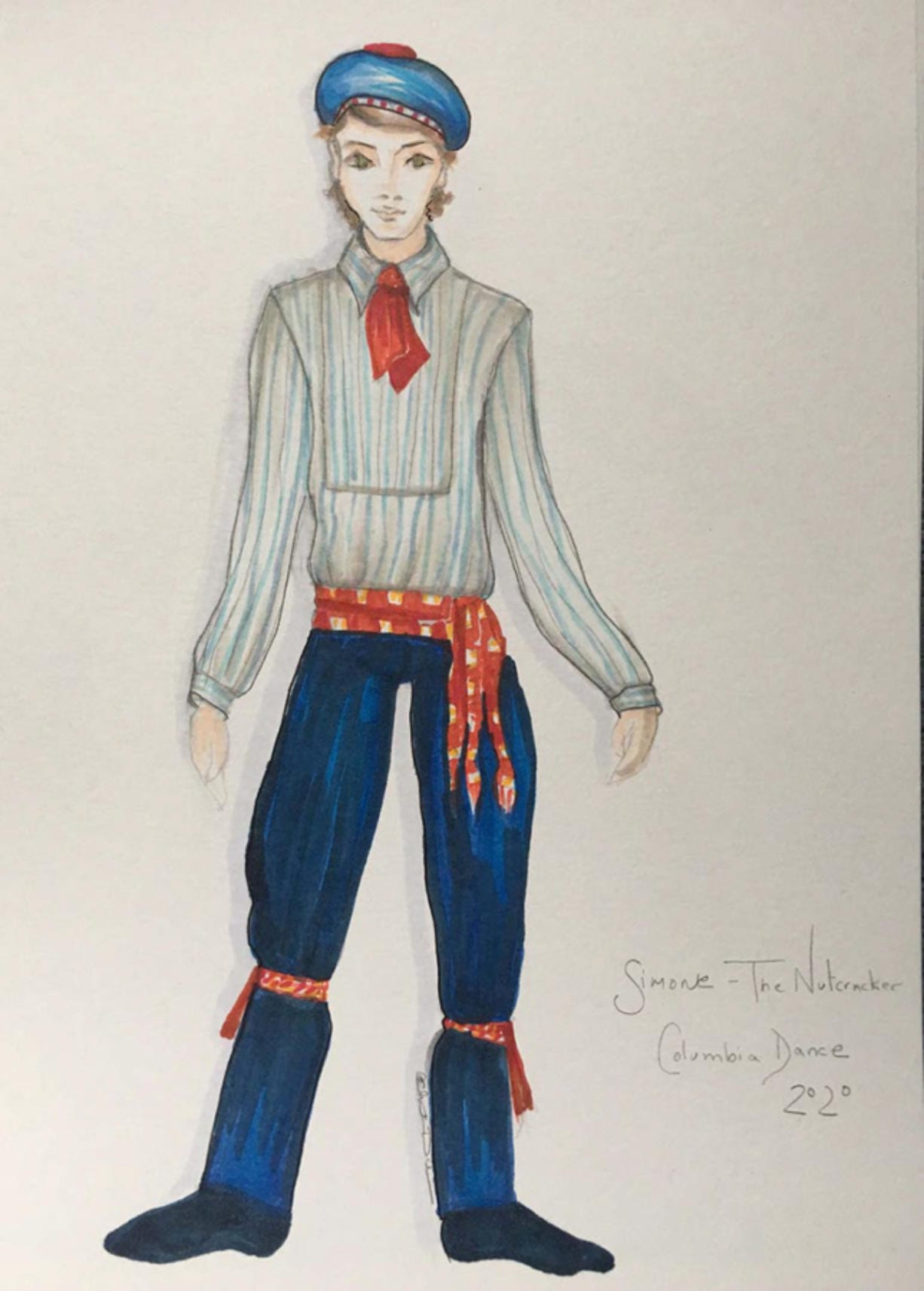 """A costume design concept for a new, localized version of """"The Nutcracker"""" to be performed by Columbia Dance starting in 2020. The costumes are being created by Christine Darch, a New York-based designer, and paid for with a new public grant program open to local art and culture organizations. (Renderings courtesy of Becky Moore)"""