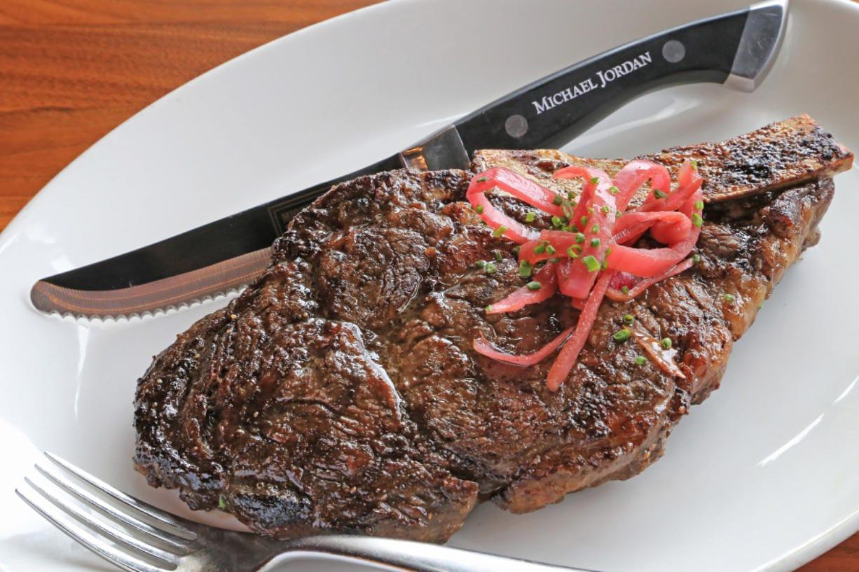 Hand-Cut Ribeye at Michael Jordan's Steak House.