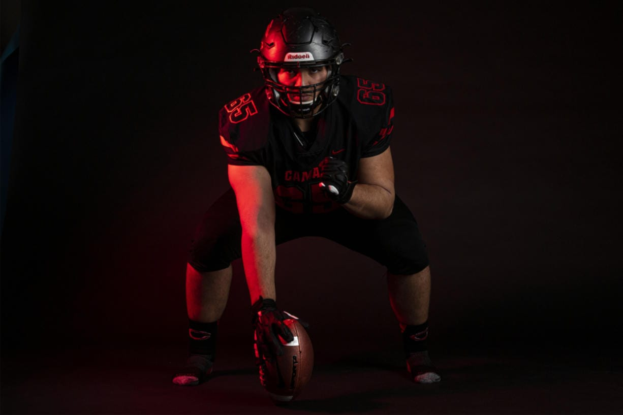 After being selected The Columbian's All-Region football player of the year, Camas senior Tai Tumanuvao said credit goes to the entire Camas offensive line.