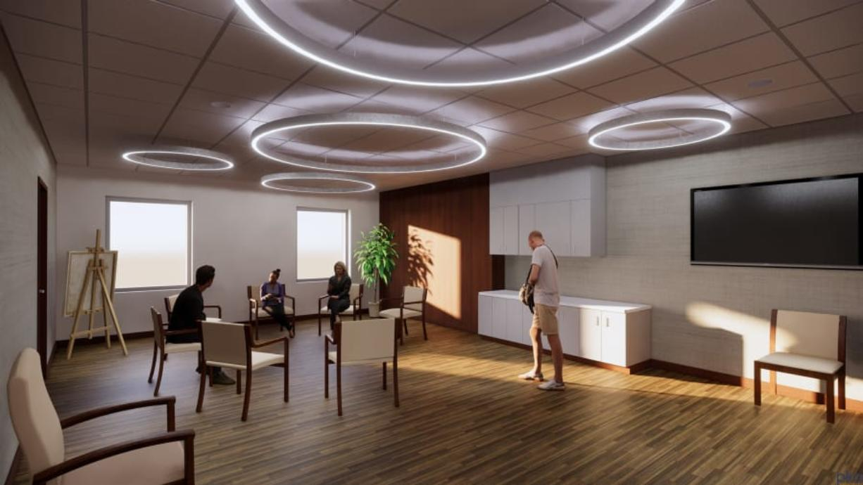 Legacy Salmon Creek Medical Center's new cancer center is expected to open before the end of 2020. It will feature massage therapy, yoga classes, financial counseling and much more. (PKA ARCHITECTS)