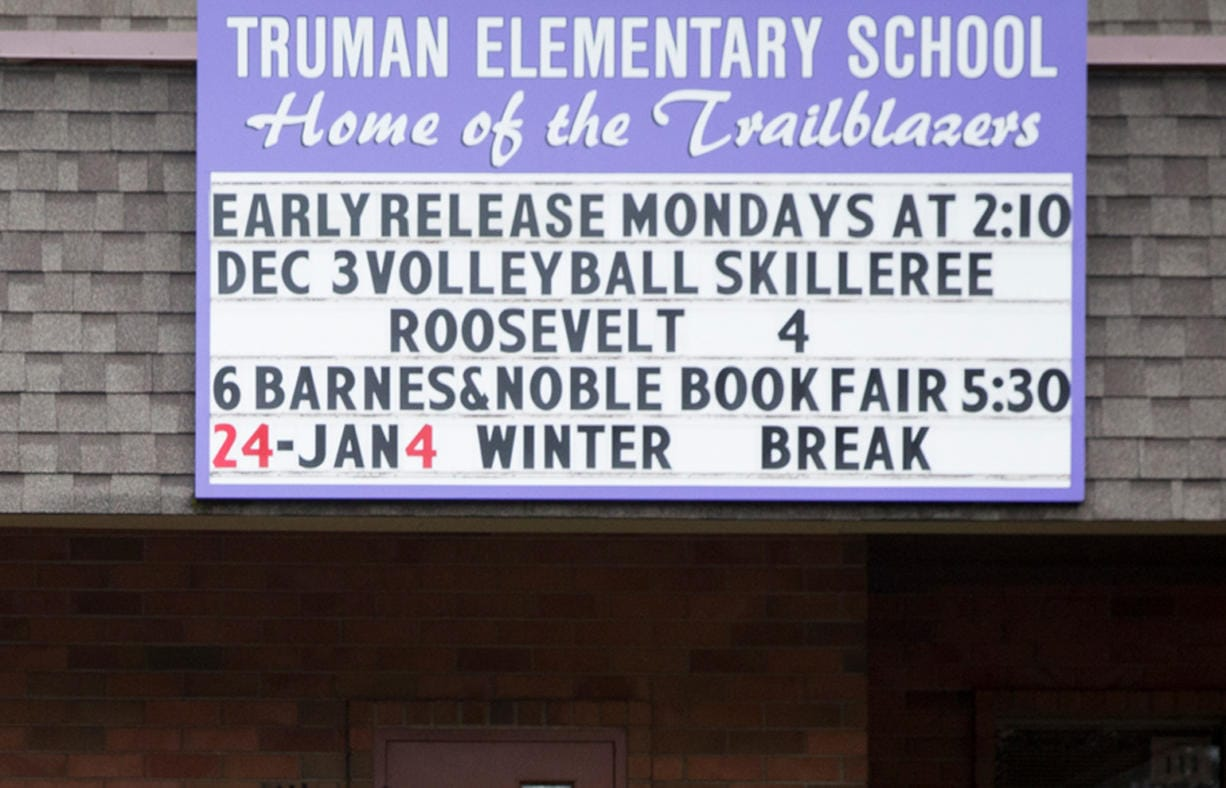 At Harry S. Truman Elementary School,72 of the school's approximately 520 students were out Wednesday, 61 on Tuesday and 82 on Monday. Students have fever, coughing and flu-like symptoms, district spokeswoman Pat Nuzzo said.