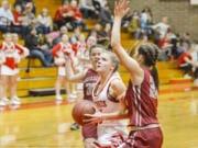 Castle Rock's sophomore Brooke Wirkkala (Longview Daily News)