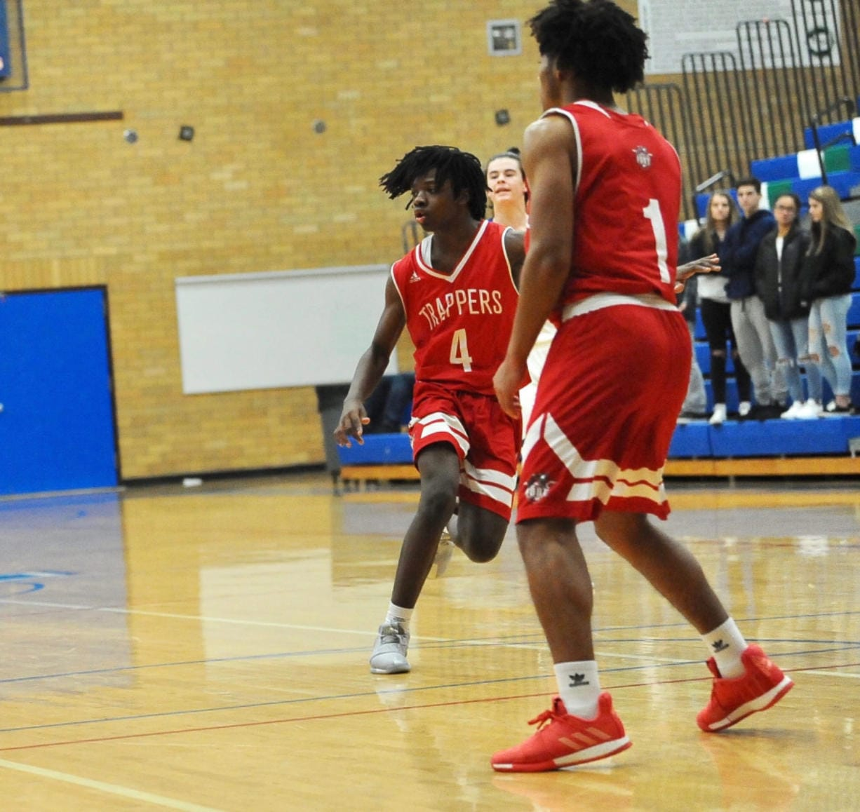 "Fort Vancouver's Khalil Singleton (4) made an impact last season as a freshman. ""He's special,"" Trappers coach James Ensley said."