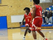 """Fort Vancouver's Khalil Singleton (4) made an impact last season as a freshman. """"He's special,"""" Trappers coach James Ensley said."""
