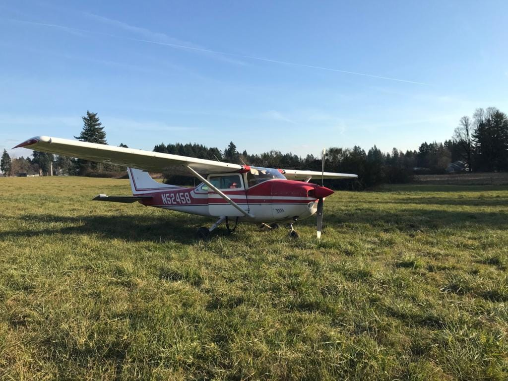 A 1973 Cessna 182P crashed into a fence Thursday afternoon at Grove Field Airport in Camas.