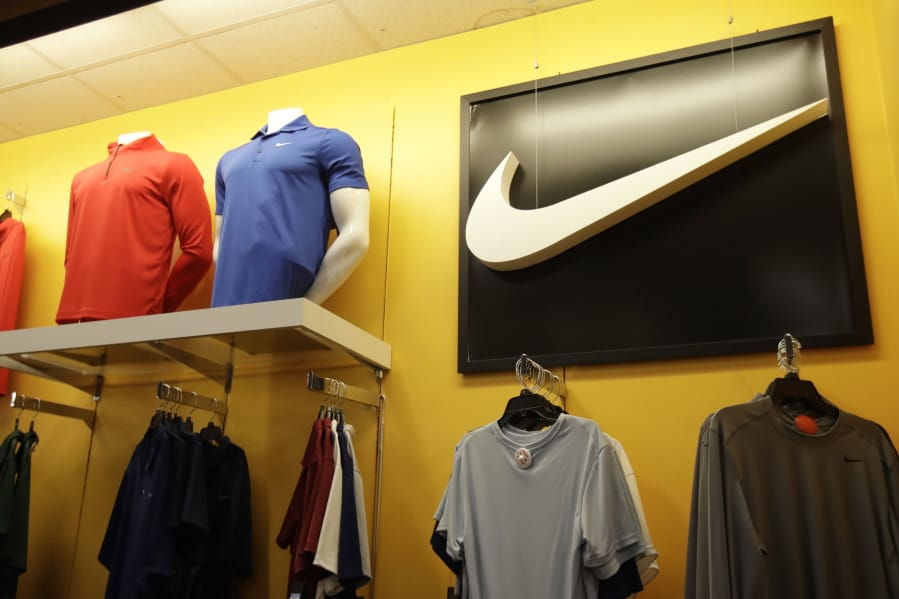 Nike clothes are displayed Nov. 29 at a Kohl's store in Colma, Calif.