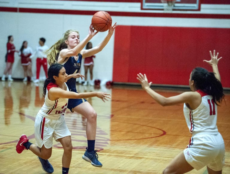 Images from Seton Catholic's 49-31 girls basketball win over Fort Vancouver on Wednesday at Fort Vancouver High School. (Joshua Hart/The Columbian)