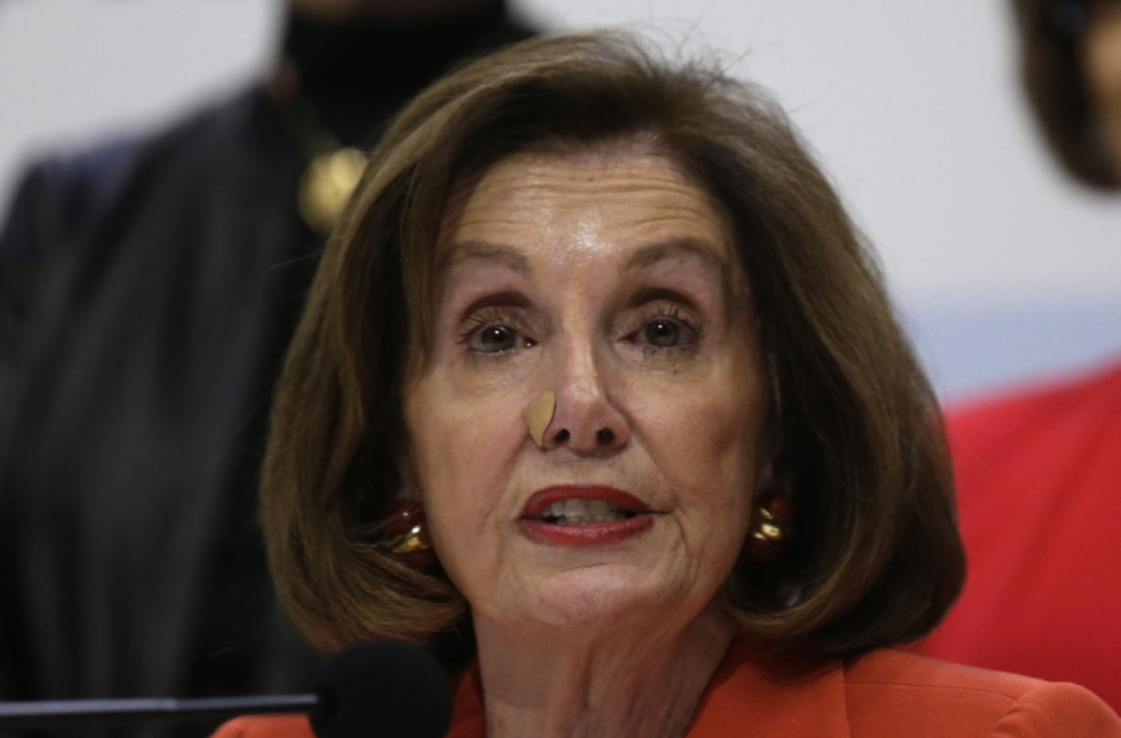 """House Speaker Nancy Pelosi of Calif. speaks during a press conference at the COP25 climate talks summit in Madrid, Monday Dec. 2, 2019. The chair of a two-week climate summit attended by nearly 200 countries warned at its opening Monday that those refusing to adjust to the planet's rising temperatures """"will be on the wrong side of history."""" (AP Photo/Andrea Comas) (andreas comas/Associated Press)"""