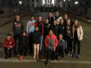 Members of Whisper Running at the capitol in Madison, Wis., where the USATF Junior Olympic Cross Country meet was held on Dec. 14, 2019.