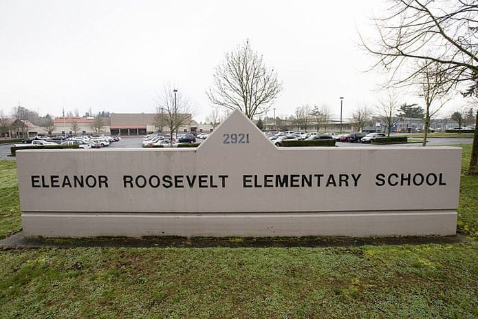 Eleanor Roosevelt Elementary School has seen an influx of sick students, like other Vancouver school district schools. (The Columbian files)