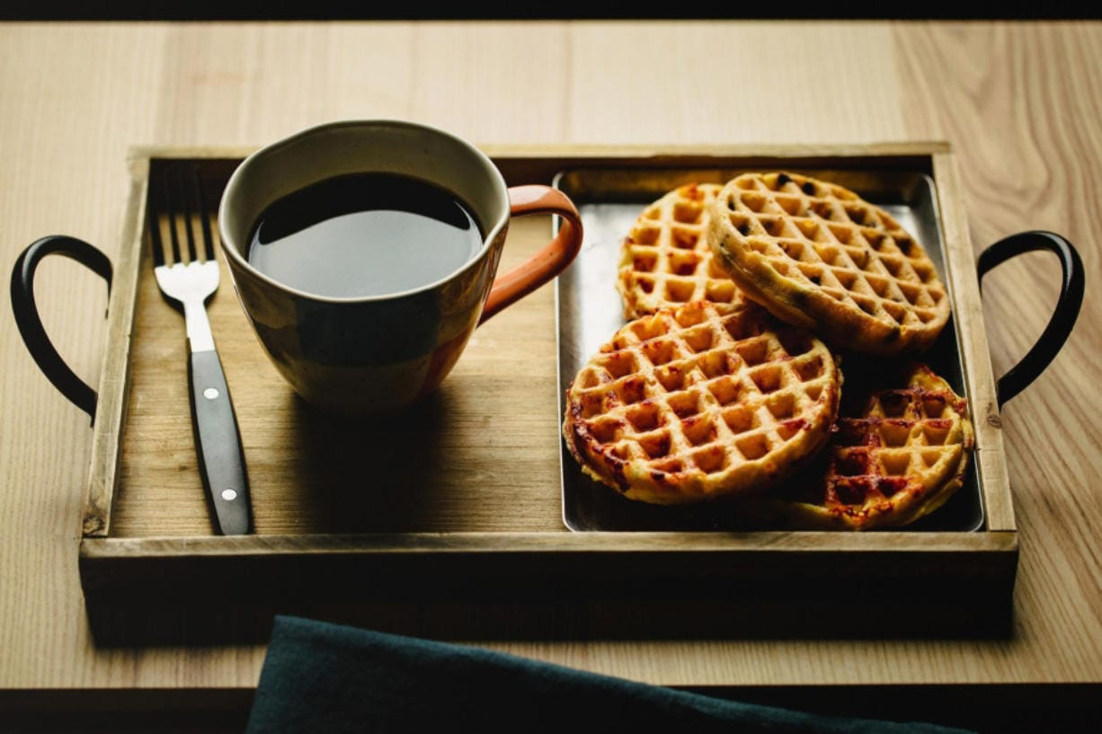 Chaffles are a flourless version of waffles that became popular among keto and gluten-free sets but have crossed over to a wider audience. (E. Jason Wambsgans/Chicago Tribune)