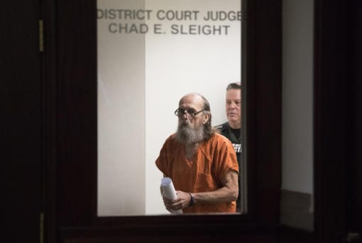 Convicted killer Warren Forrest leaves the courtroom after appearing in Clark County Superior Court on new charges in the death of a teenage girl in the 1970s on Jan. 10. (Amanda Cowan/The Columbian)