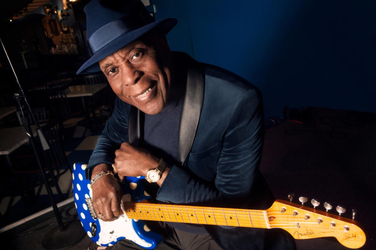 "Buddy Guy's work ethic has kept him afloat for six decades in the blues, to the point that Rolling Stone recently called him ""the greatest living Chicago bluesman, and one of the most influential guitar players ever."" (Paul Natkin files)"