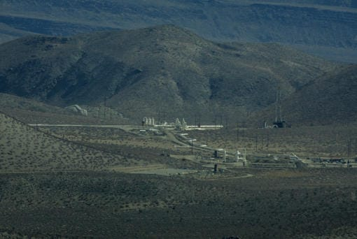 The Trump administration wants to open more of the California desert for geothermal energy, meaning more facilities like the Coso plant near Little Lake in Owens Valley, seen here in 2007.(Spencer Weiner / Los Angeles Times)