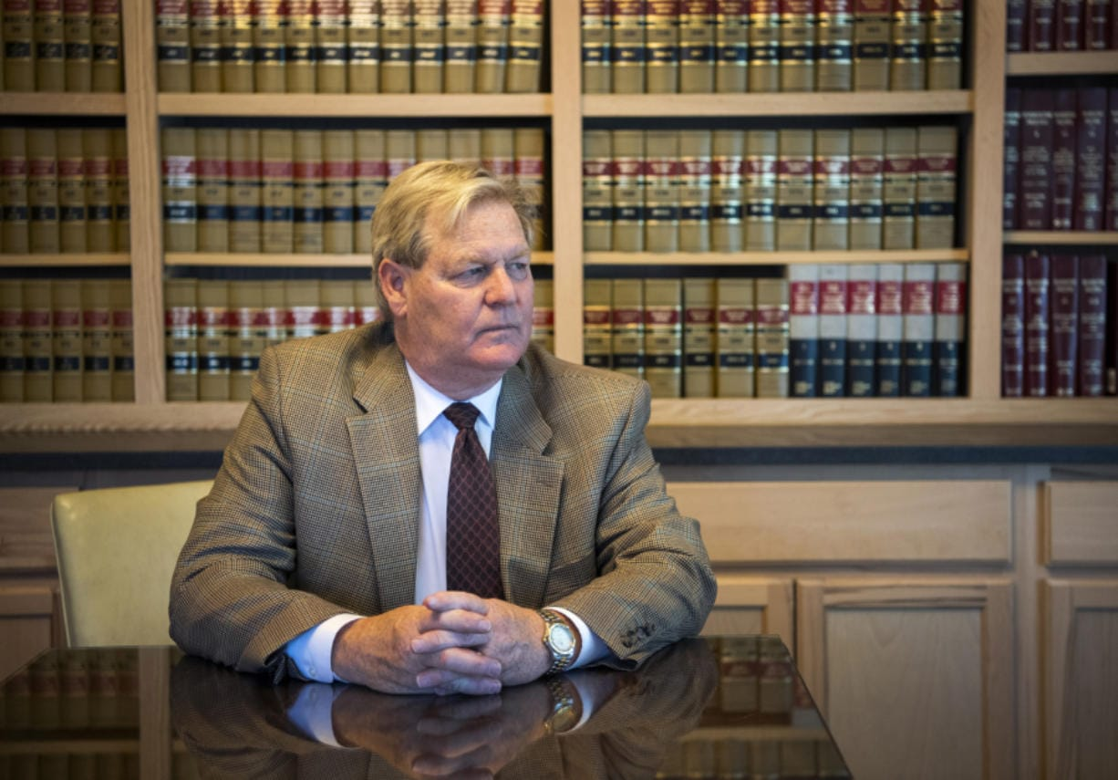 Attorney Thomas Phelan has contracted with Clark County for indigent defense for most of the past 39 years, but says the system is not currently viable. (Alisha Jucevic/The Columbian files)