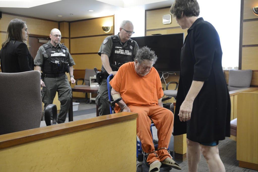 Robert Breck, 80, appears in Clark County Superior Court in October. (Jessica Prokop/The Columbian files)