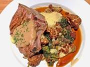 Pork chop at Roots Restaurant & Bar.