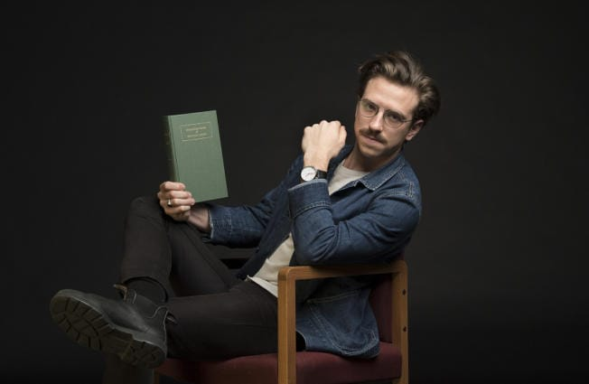 "Poetry or tweetery? Vancouver resident Gregory Woodman, who masterminded this classy, hardbound volume entitled ""Collected Poems of Donald J. Trump,"" wants you to be the judge. (Amanda Cowan/The Columbian)"