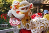 Lion dances add color and energy to the Chinese New Year celebration at Lan Su Chinese Garden. (Courtesy Lan Su Chinese Garden)