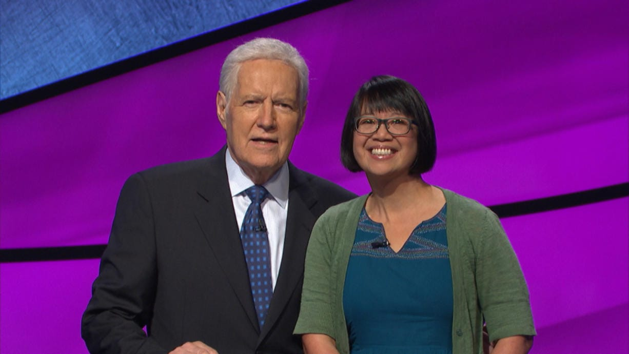 Veronica Vichit-Vadakan, 45, has made a four-day appearance on 'Jeopardy,' racking up, as of Thursday evening, $89,001. (Jeopardy Productions Inc.)