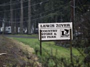 Power lines run along the exterior of the property for the Lewis River Country Store & RV Park in Woodland on, Jan. 22, 2020.