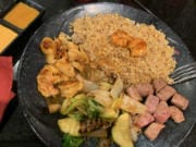 Hibachi lobster and steak at Kyoto Sushi Steakhouse.